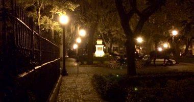 Streets of Savannah at Night
