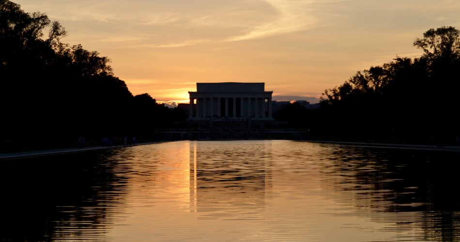 Lincoln Memorial a Sunset